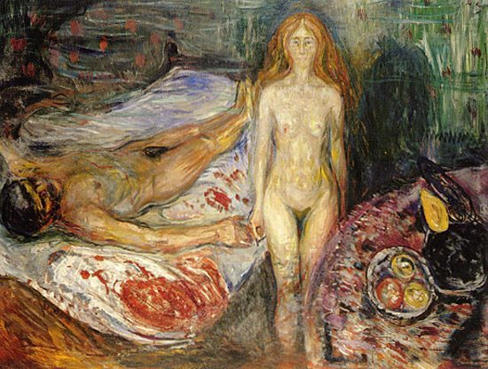 The Death of Marat by Edvard Munch