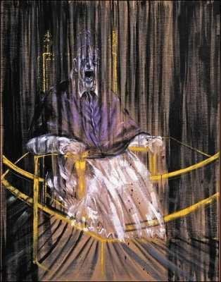 After Velazquez's Portrait of Innocent X by Francis Bacon