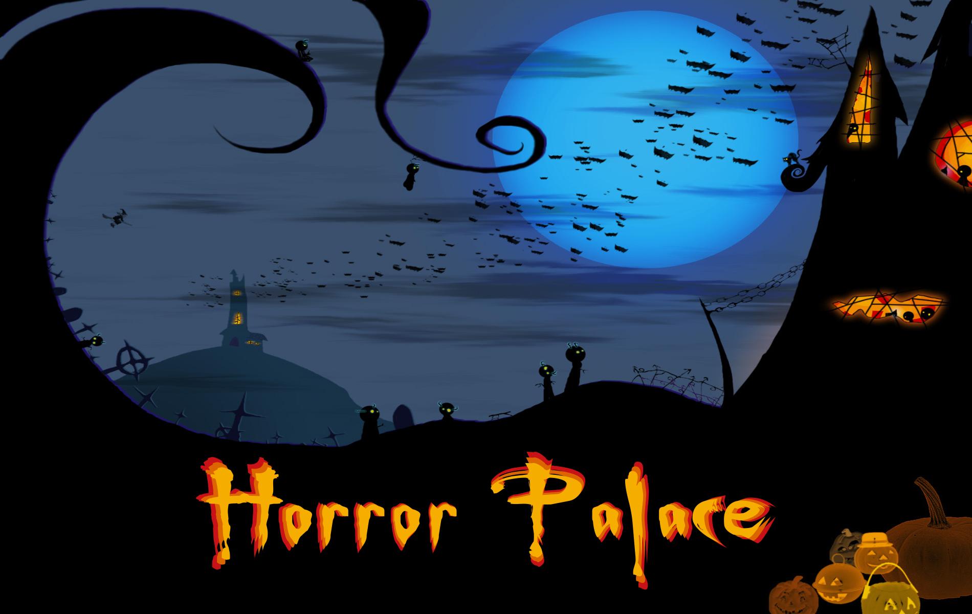 Horror Palace Wallpaper Blue Night Horror Palace Shop