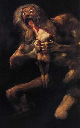 Saturn Devouring His Son byFrancisco Goya